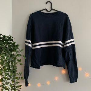 Brandy Melville navy stripped sweater